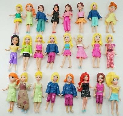 Set of 10pc Polly Pockets girl/lady/female Doll Figures Mixed Assortment Toy US