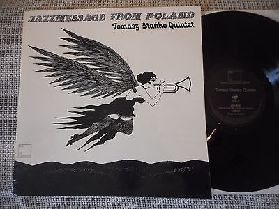 TOMASZ STANKO QUINTET Jazzmessage From Poland GERMAN JG LP 1972 + SIGNATURES