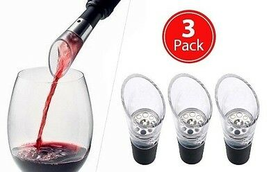 Bottle Top Wine Aerator - 3 Item pack