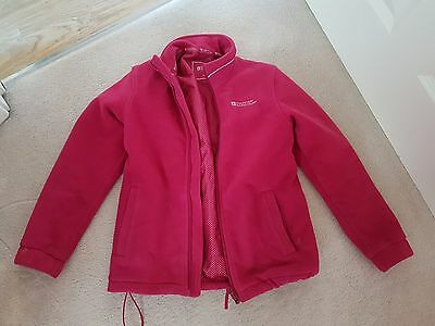 Cerise Girls Fleece Top With Pockets And Zip Size 9-10