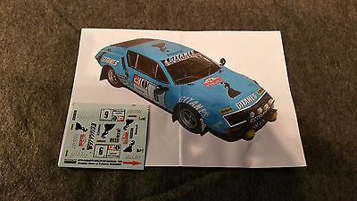 Decals 1/43 Alpine A 310 Ragnotti 1976