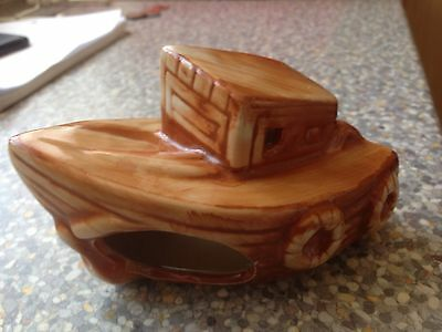 fish tank Boat ornament Brown Boat