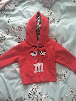 Toddler M&M Hoodie Size Xs From M&M World