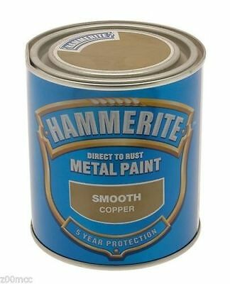 Hammerite - Metal Paint - Smooth Copper - 750ml - Direct To Rust