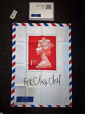 Brand New First Class Stamp Tea Towel by Gift Republic Royal Mail In Gift Box