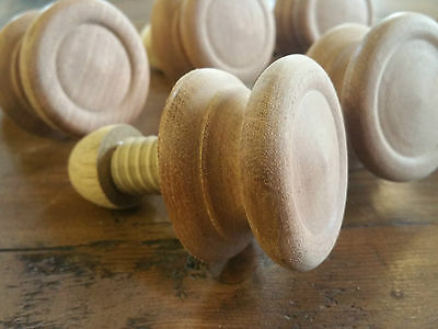 Hand Turned Mahogany Handles/Knobs