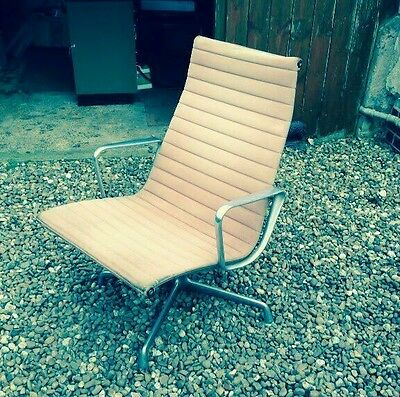 Two Vintage Eames For Herman Miller Group Lounge Chairs