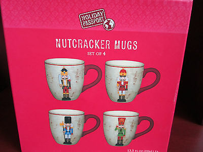 World Market Nutcracker Mugs Set Of 4 New In Box