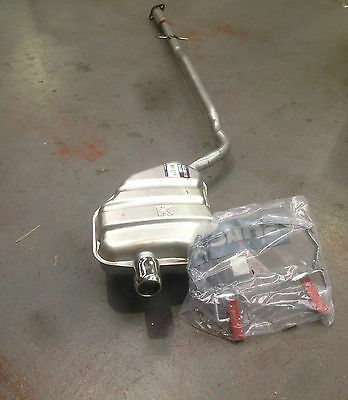 MINI One, Cooper Backbox with Bodyband & Rubbers (silencer exhaust) chrome tip