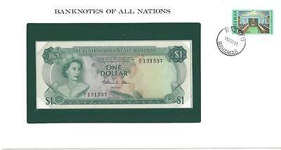 Banknotes of All Nations, Bahamas, $1, 1974, P35b, Uncirculated