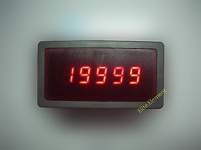 DC High Precision 9.999A 10A Digital Panel Meter Current Ammeter Built-in Shunt