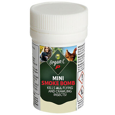 Organ-X Poultry Red Mite Fumigator Smoke Bomb Room Shed Fogger Fumer