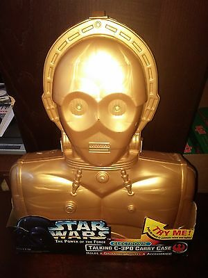 Star Wars Power of the Force C-3PO Electronic Carrying Case Kenner 1996 NIB