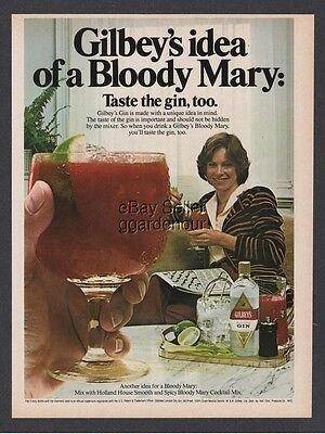 1981 Gilbeys gin Bloody Mary crossword puzzle relax photo print ad