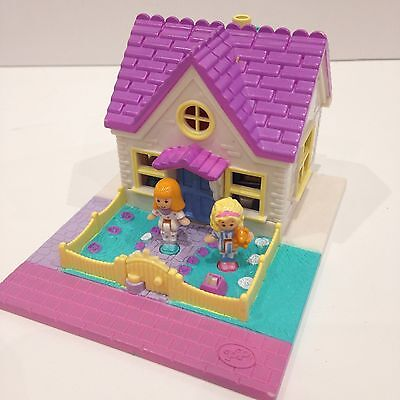 *Rare* Vintage Polly Pocket Play Set COSY COTTAGE 1993 COMPLETE *White Edition*