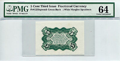 5 Cent Third issue Fractional Currency MS-64 PMG Certified
