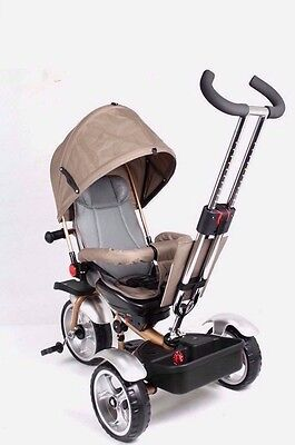 2017 Tricycle Ride On Toy Baby Toddler Pram Stroller Jogger Car Gold