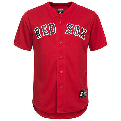 Majestic Athletic Boston Red Sox MLB Baseball Replica Jersey Shirt Red Medium