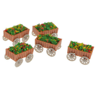 5Pcs Model Floats Flowerbed Park Garden Parterre 1:75 Scale Scenery Layout