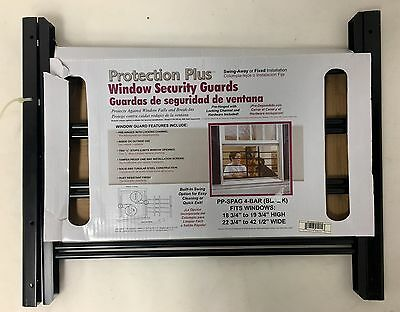 Protection Plus -Spag 4-Bar Window Guard in Black- New - Free Shipping