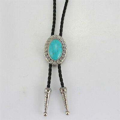 Indian Western Cowboy Turquoise Rodeo Dance Aztec Bolo Tie