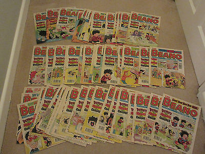 BEANO COMICS X 52 FROM 1995, COMPLETE YEAR , All in very good condition