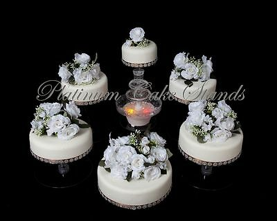 6 Tier Cascade Wedding Cake Stand (Style R600)