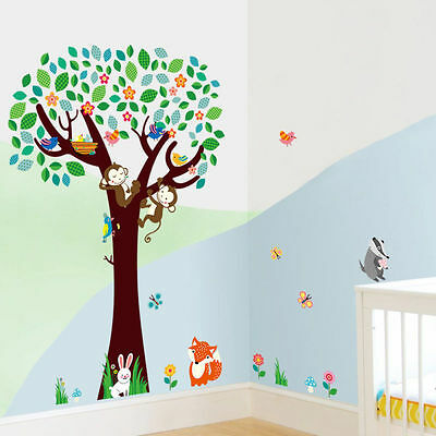 Jungle Animals Removable Wall Decal Stickers Nursery Room Décor