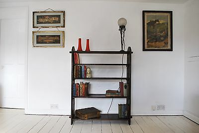 Stunning Solid English Oak Arts and Crafts Book Shelf Shop display Libertys
