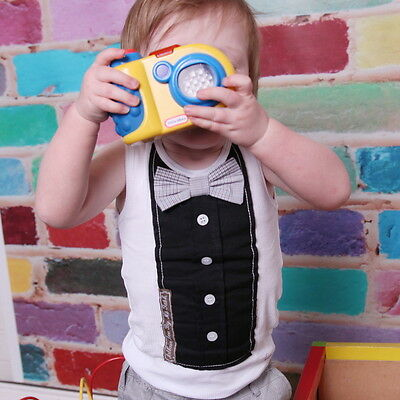 NEW Black Bow Tie Vest Boy's by Arthur Ave