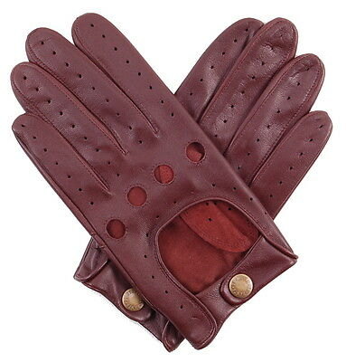 Dents Delta Men's Hairsheep English Tan Leather Classic Driving Gloves Sz L