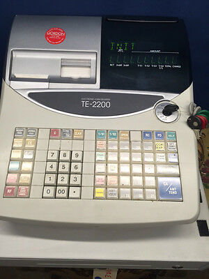Casio TE-2200 Electronic Cash Register - POS, Point of Sale, TE2200