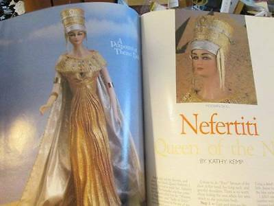 Doll Crafter January 1991 Magazine-Nefertiti/Cloudy & Sunny/Fiona/Pinafore/Kewpi