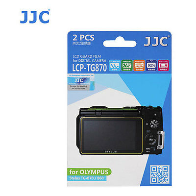 JJC LCP-TG870 ultra hard polycarbonate LCD Film Screen Protector Olympus TG870 2