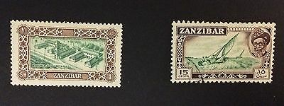 Two Stamps From Zanzibar 1952 / 1957