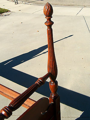 Antique Mahogany Twin Bed Frame Headboard Footboard and Rails