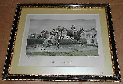 Framed The Grand National by Harington Bird Print - Swan Electric Engraving Co