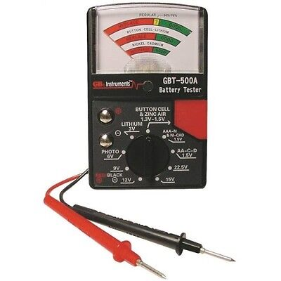 Gardner Bender GBT-500A Battery Tester for 1.5-volt Button Cell to 22.5 Photo an
