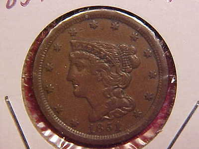 1851 P Half Cent - Xf - See Pics! - (N4515)