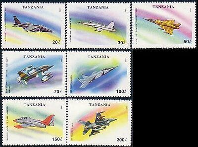 Tanzania Military Fighter Airplanes MNH ** (15)