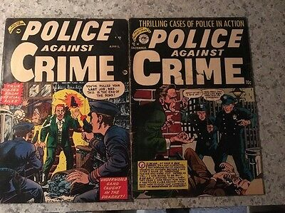 Police Against Crime Comic Issues #1 #5 1954