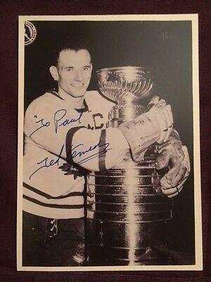 Ted Kennedy Maple Leafs Autographed Signed Photo (D. 2009)
