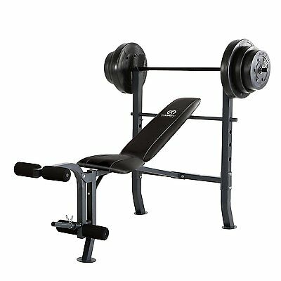 Mid-Width Bench 100-Pound Weight Sets Home Gym Equipment