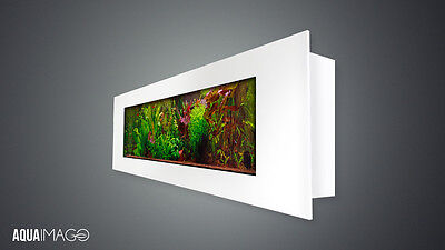 NEW! Wall mounted aquarium fish tank High Quality, Full Set 149cm White frame