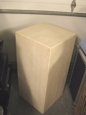 3 ft Tall $2,000 TRAVERTINE Italian Stone Marble Art Pedestal Column Table Stand