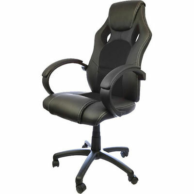 Racing Office Chair Seat Executive Computer Gaming PU Leather Deluxe Red