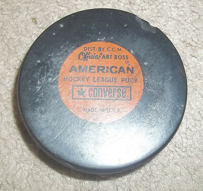 Vintage Converse Official Art Ross 1960's  AHL  Hockey Puck