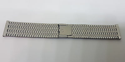 Rare Vintage 18Mm Nsa Stainless Steel Band Strap Bracelet Straight