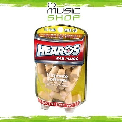 New 14x Pairs Hearos Ultimate Softness Ear Plugs - Original Formulation - HO5210