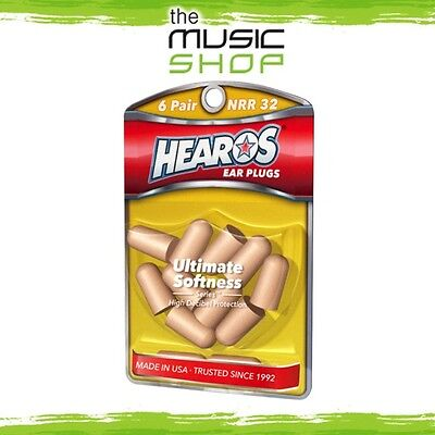 New 6x Pairs Hearos Ultimate Softness Ear Plugs - Original Formulation - HO5414